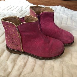 Tucker + Tate  Pink and Gold polka dot ankle boots